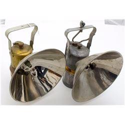 Justrite Superintendent Style Carbide Lamp Pair