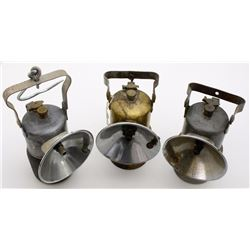 Three Different Justrite Superintendent-Style Lamps