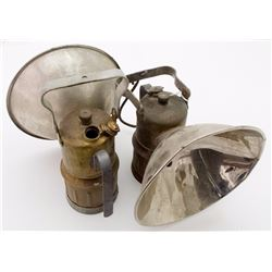 Two Justrite Superintendent Style Lamps
