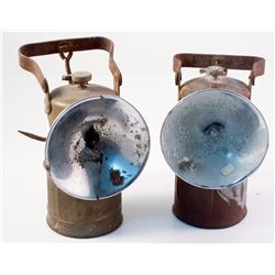 Two Superintendent Style Justrite Lamps