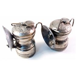 Two Different Sun Ray Carbide Lamps