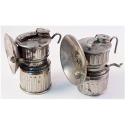 Two Scarce Victor Carbide Lamps