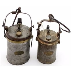 Pair of Wolf Superintendent Style Carbide Lamps
