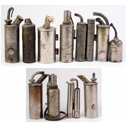 Collection of 12 Alcohol Torches and Related Material
