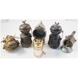 Group of Carbide Lamps and Lamp Parts
