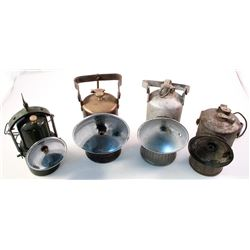 Four Superintendent Style Carbide Lamps
