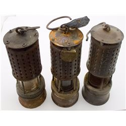 Six Miscellaneous Safety Lamps