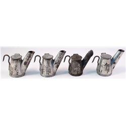 Four Hardsocg Teapot Mining Lamps