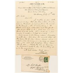 John Taylor & Co. Letterhead and imprinted cover