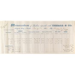 Rare Theall & Co. Assay Memorandum (1866)