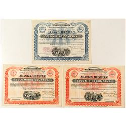 Rare Stock Certificates for the Alaska Mexican Gold Mining Company