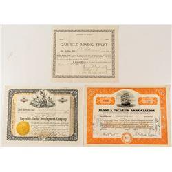 Alaska Mining Stock Certificates