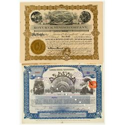 Two Alaska Mining Stock Certificates