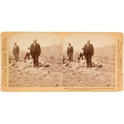 Stereoview of President McKinley at the Congress Gold Mine