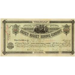 Silver Nugget Mining Company Stock Certificate