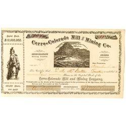 Cerro Colorado Mill and Mining Co. Stock, A.T. 1876