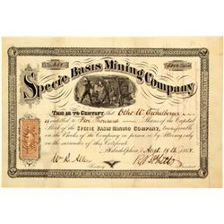 Specie Basis Mining Company Stock Certificate