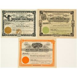 Prescott, Arizona Mining Stock Certificates