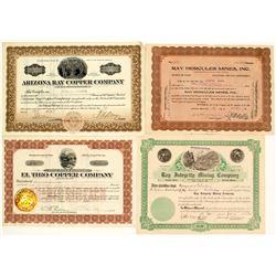 Ray, Arizona Mining Stock Certificate Group