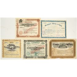 Tombstone, Arizona Mining Stock Certificate Collection