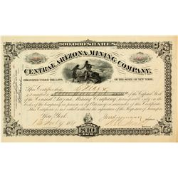 Central Arizona Mining Company Stock Certificate