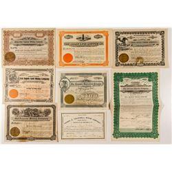 Arizona Stock Certificates (Mostly Mining)