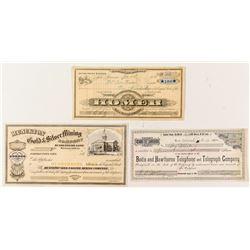 Bodie & Mono County Stock Certificates