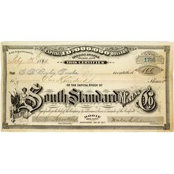 South Standard Mining Company Stock Certificate