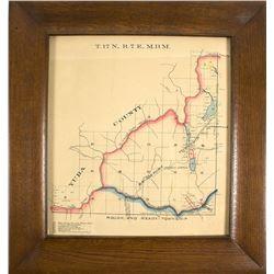 North Yuba River Mining Map