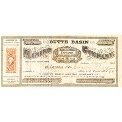 Rare Butte Basin Mining Company Stock Certificate