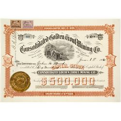 Consolidated Golden Trout Mining Company Stock Certificate