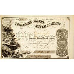 Tuolumne County Water Company Stock Certificate