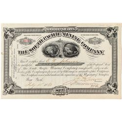 South Pacific Mining Company Fraud Stock Certificate (Death Valley)