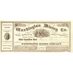 Washington Mining Company Stock Certificate