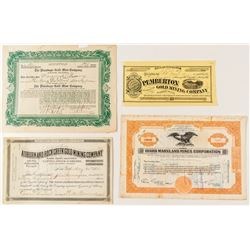 Grass Valley & Auburn Mining Stock Certificates