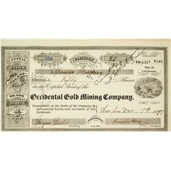 Occidental Gold Mining Company Stock Certificate