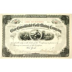 Cisco Consolidated Gold Mining Company Stock Certificate