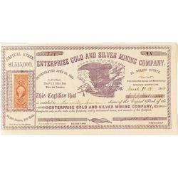 Enterprise Gold & Silver Mining Company Stock Certificate