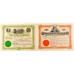 Southern California Desert Mining Stock Certificates