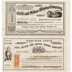 Two California Mining Stocks including the Wee-Wee Antic