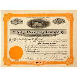 Trinity Dredging Company Stock Certificate