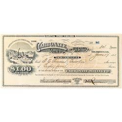 Carbonate Mining Company Stock, Oro Grande, California 1891