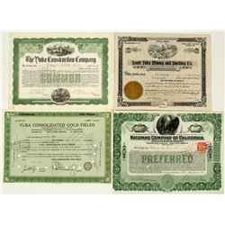 California Mining Dredging Stock Certificates