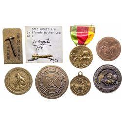 California Mining Medallions