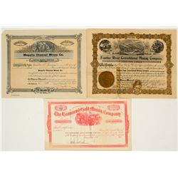 Three California Mining Stock Certificates 2