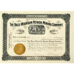 The Bald Mountain Nevada Mining Company Stock Certificate