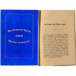 The Federal Union Gold Mining Company By-Laws
