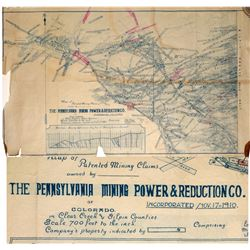 Mining Claims Map for Pennsylvania Mining Power & Reduction Co. (Colorado)