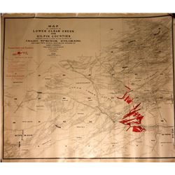 Mining Map of Lower Clear Creek and Gilpin Counties