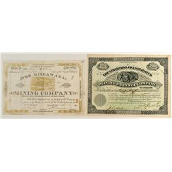Pair of Leadville Mining Stock Certificates